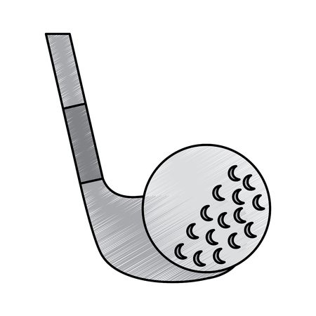 Golf club and ball sport recreation vector illustration Stock fotó - 92138081