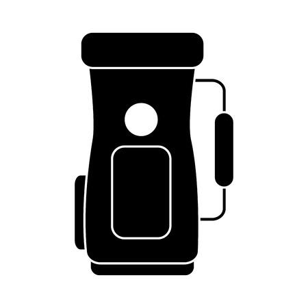 sac de golf poignée de l & # 39 ; équipement accessoire icône illustration vectorielle