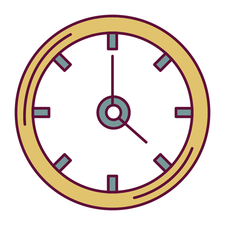 Time clock isolated icon vector illustration design Çizim