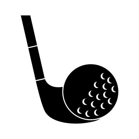 Golf club and ball sport recreation illustration.