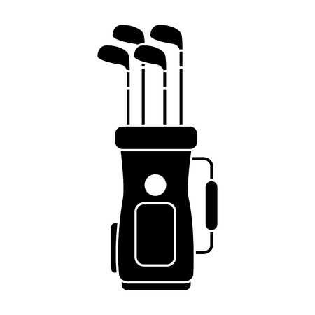 Golf bag full of clubs sport equipment illustration.