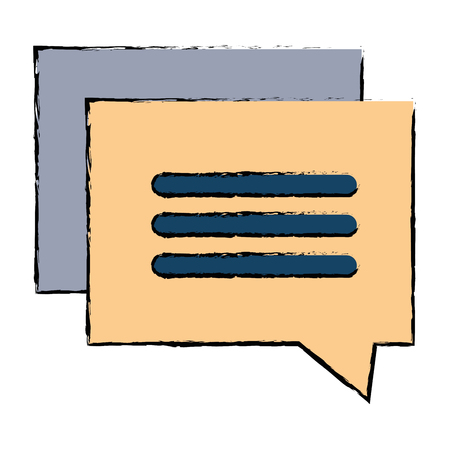 Speech bubble isolated icon illustration. Ilustração