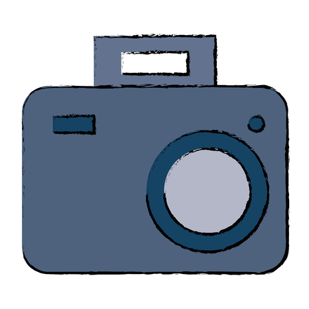 Camera isolated icon illustration.
