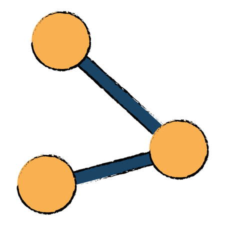 Share symbol isolated icon illustration.