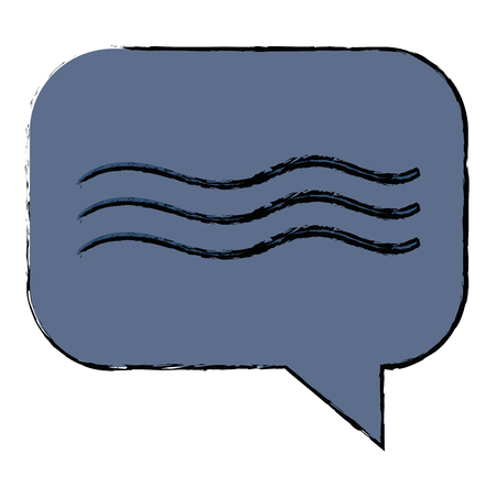 Speech bubble isolated icon illustration. Illusztráció