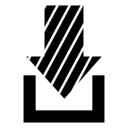 화살표 다운로드 격리 된 아이콘 벡터 일러스트 레이 션 디자인