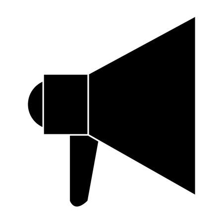 Megaphone sound isolated icon illustration.