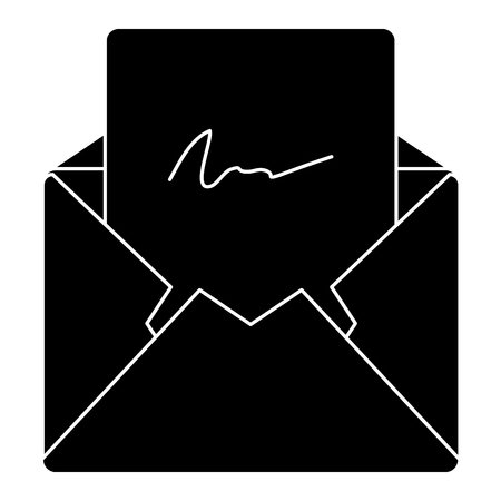 Mail envelope isolated icon illustration design. Illustration