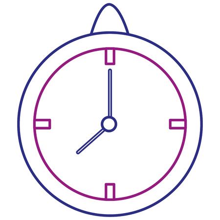 Time clock isolated icon vector illustration design 版權商用圖片 - 92141425