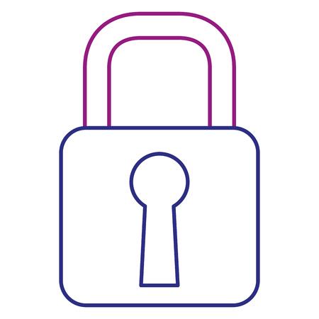 Safe secure padlock icon  illustration design. Ilustração