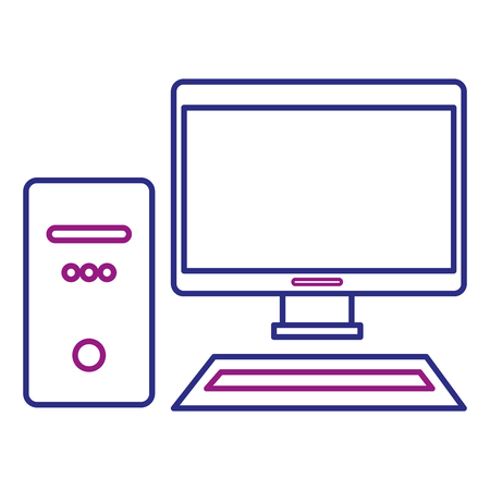 Desktop computer isolated icon illustration design. Stock Vector - 92182205