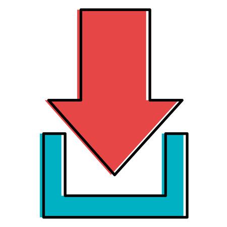 Flecha descargar aislado icono de ilustración vectorial de diseño Foto de archivo - 92141432