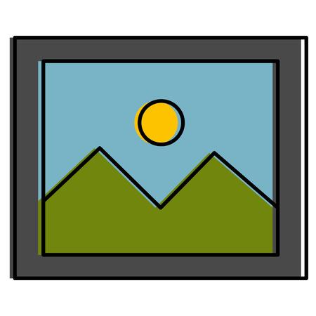 Landscape snapshot isolated icon vector illustration design Ilustracja