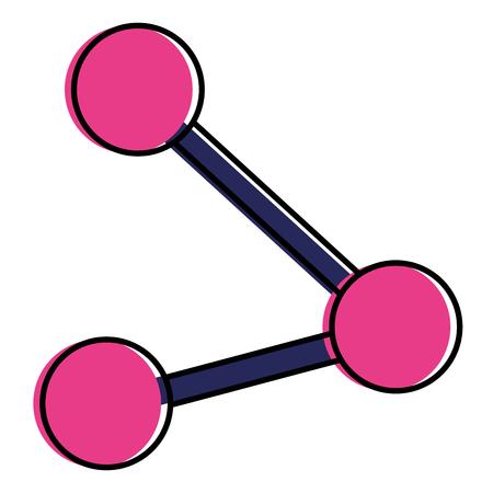 Share symbol isolated icon vector illustration design Stock Vector - 92141541