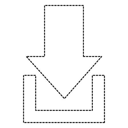 화살표 다운로드 아이콘 그림 디자인을 격리합니다.