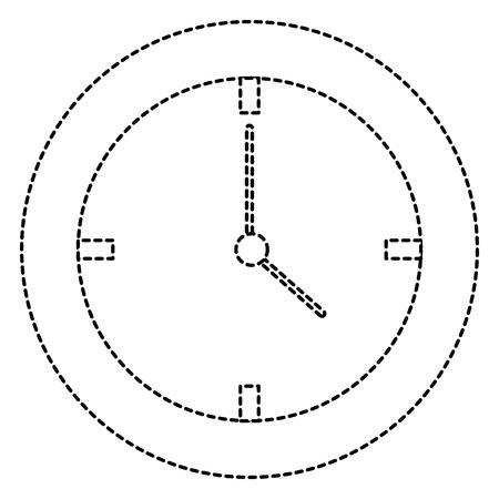 Time clock isolated icon illustration design.