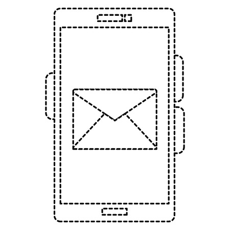 봉투 일러스트 디자인 전화 장치입니다.