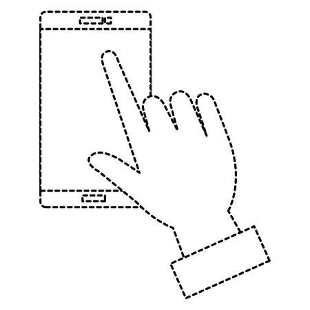 전화 장치 일러스트 디자인으로 손입니다.