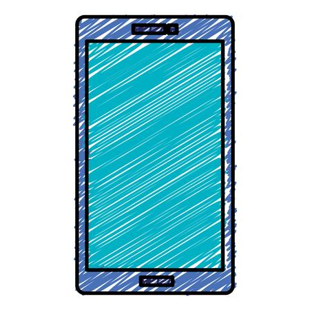 전화 장치 격리 아이콘 그림 디자인입니다. 일러스트