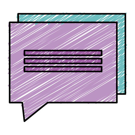 Speech bubble isolated icon illustration design.
