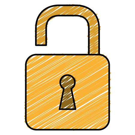Safe secure padlock icon  illustration design. Illustration