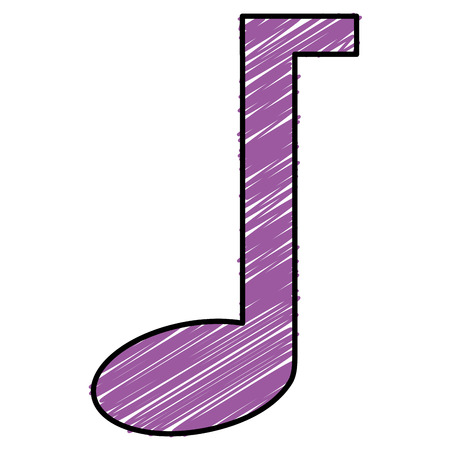 Music note isolated icon illustration design. Ilustrace