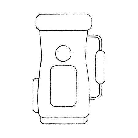 golf bag icon image vector illustration design  black sketch line