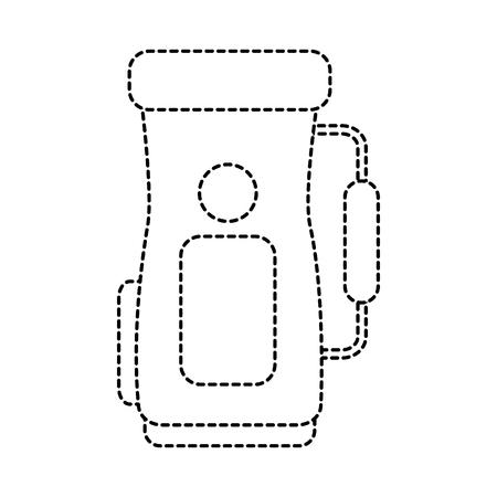 golf bag icon image vector illustration design  black dotted line