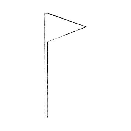 フラグ三角形アイコン画像ベクトルイラストデザイン黒スケッチ線