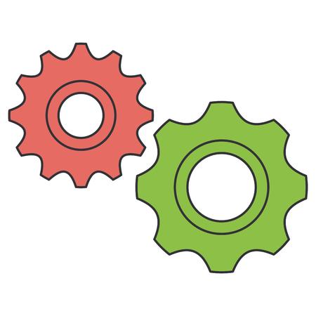 Gear machine isolated icon vector illustration design. Illustration