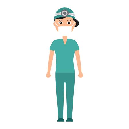 doctor woman  healthcare icon image vector illustration design Stock Vector - 92172524