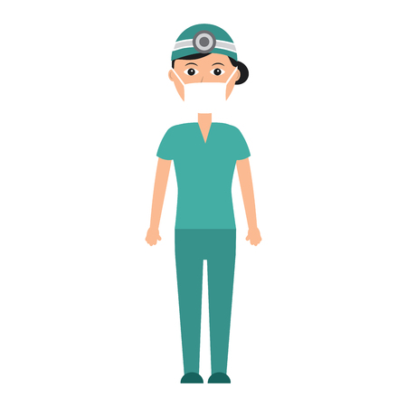 doctor woman  healthcare icon image vector illustration design