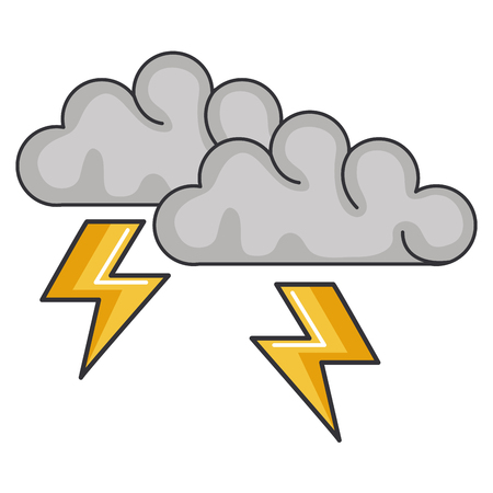 clouds storm electric icon vector illustration design Imagens - 92172532