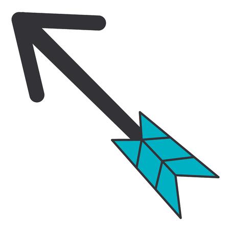 arrow indian isolated icon vector illustration design Ilustração