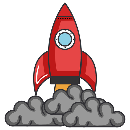Rocket launcher isolated icon vector illustration design.