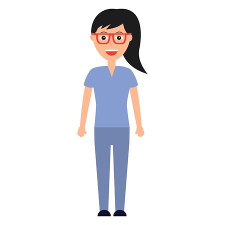 Doctor woman healthcare icon image vector illustration design Illustration