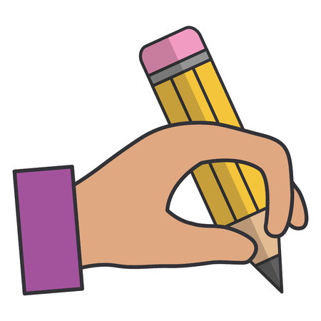 A hand human writing icon vector illustration design