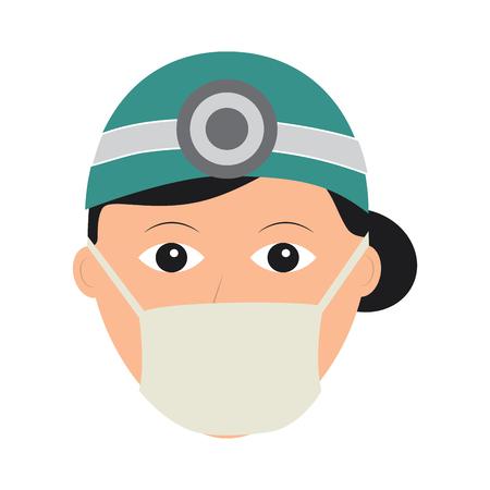 A doctor woman healthcare icon image vector illustration design Stock Vector - 92174506
