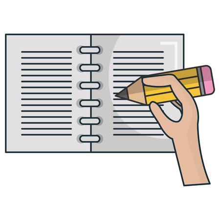 hand human writing icon vector illustration design Ilustração