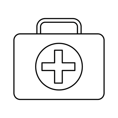 A first aid kit healthcare icon image vector illustration design Illustration