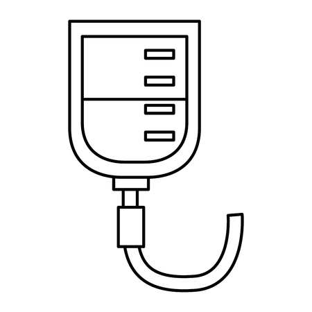 iv bag healthcare icon image vector illustration design Stock fotó - 92186088