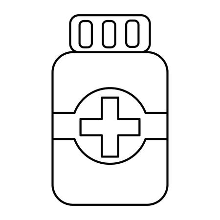 A pill bottle healthcare icon image vector illustration design Stock Vector - 92174530