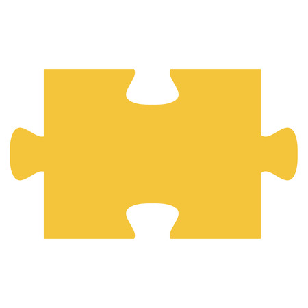 A puzzle piece isolated icon vector illustration design