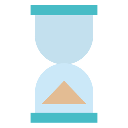 A hourglass timer isolated icon vector illustration design