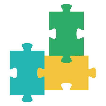 퍼즐 조각 격리 아이콘 벡터 일러스트 디자인 일러스트