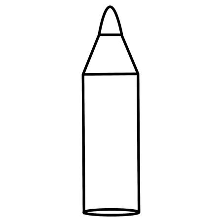 연필 학교 격리 아이콘 벡터 일러스트 디자인