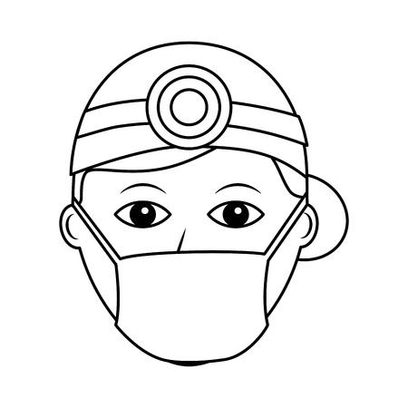 Professional surgeon medical uniform clothes vector illustration outline design