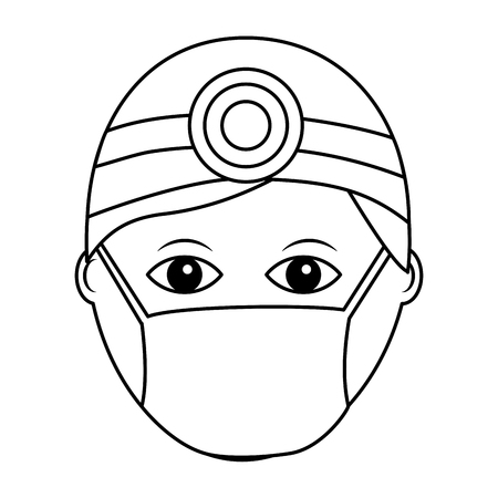 Professional surgeon medical uniform clothes vector illustration outline design