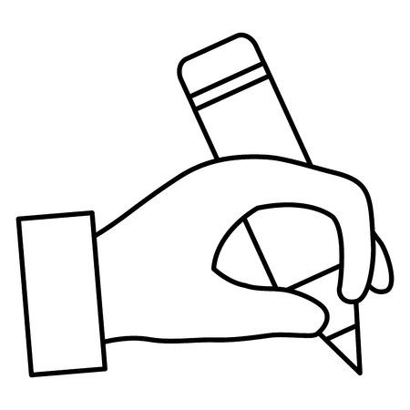 Hand human writing icon vector illustration design