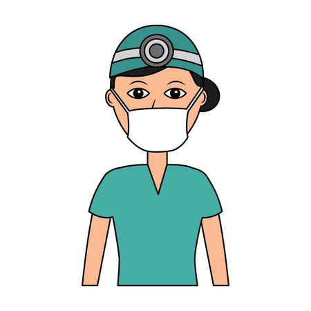 Professional surgeon medical uniform clothes vector illustration Stock fotó - 92175171